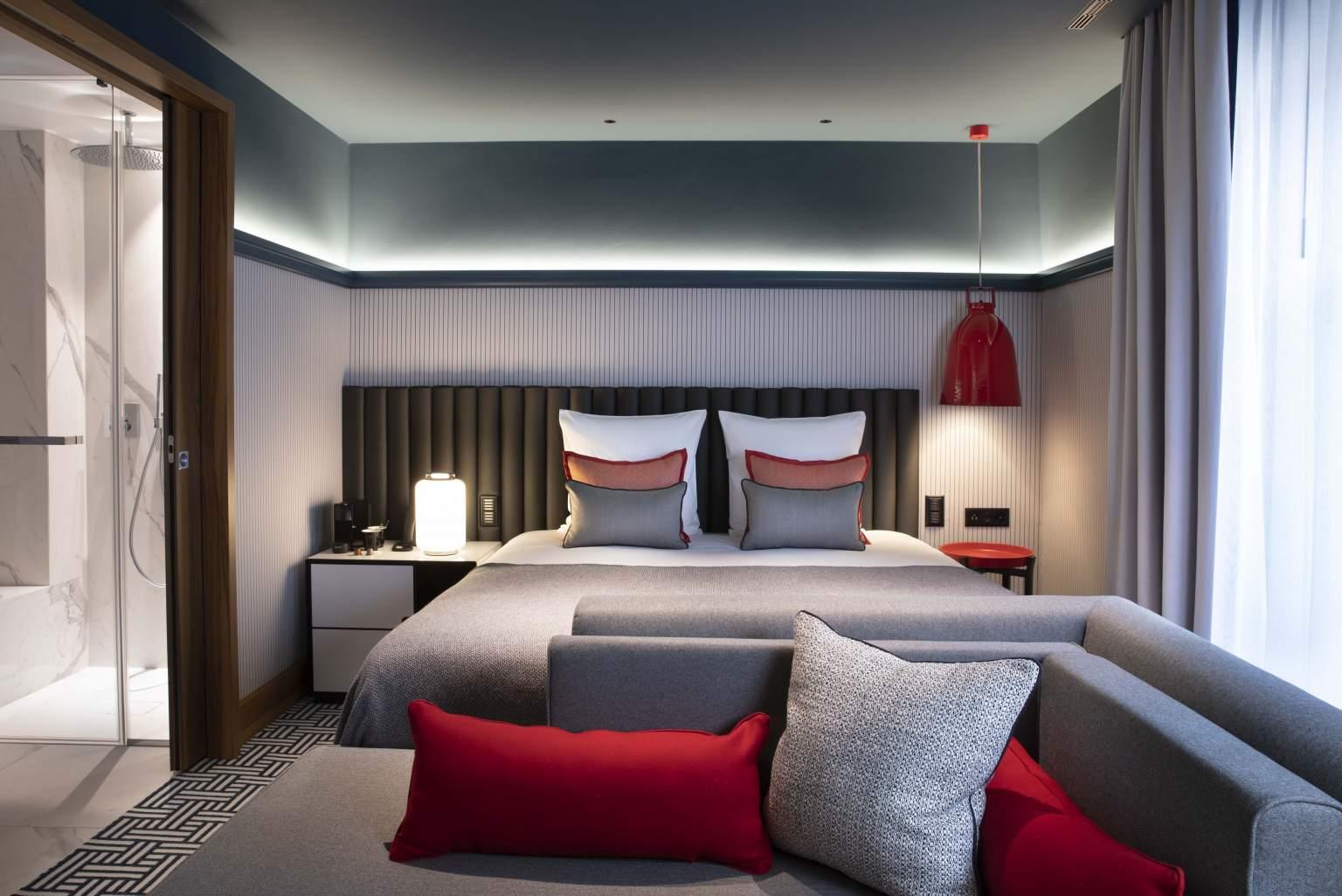 Design Hotelzimmer in GenfHotel D Geneva, Genf Stadtzentrum